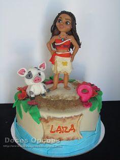 Doces Opções: A Vaiana no aniversário da Lara Birthday Cake, Desserts, Cakes, Tailgate Desserts, Deserts, Birthday Cakes, Postres, Dessert, Cake Birthday