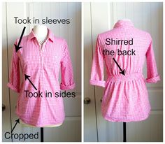 shirt refashion Great refashion/sewing blog.