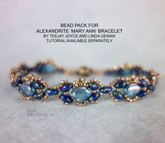 "Alexandrite ""Mary Ann""  Beadweaving Bracelet Bead Pack by Teejay Joyce and Linda Genaw - Tutorial Available Separately"
