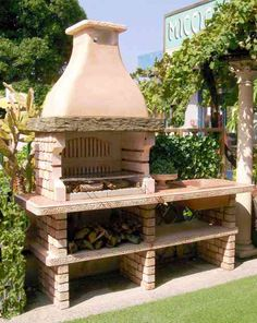 BARBECUE SALINA - Clicca l'immagine per chiudere Barbecues, Barbacoa, Gazebo, Outdoor Living, Kitchen Design, Brick, Bbq, Backyard, Outdoor Structures