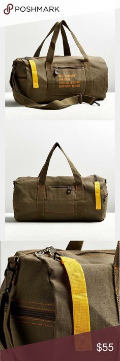"""NEW Rothco 19"""" Brown Canvas Equipment Duffle Bag NEW Rothco 19"""" Brown Canvas Equipement Duffle Bag. Brand new and unused. Has adjustable shoulder strap. 3 zipped outer pockets. Rothco Bags Duffel Bags"""