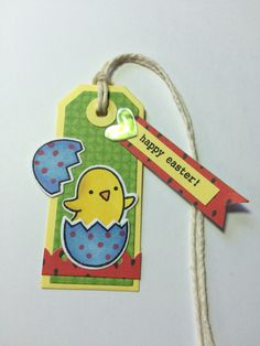 Easter gift tag. Lawn fawn. Chicks, chirpy-chirp-chirp