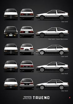 - Toyota Sprinter Trueno' Poster by m-arts <br> Toyota Sprinter Trueno (Zenki and Kouki version) Maserati, Bugatti, Toyota Trueno, Toyota Celica, Toyota Supra, Toyota 86, Toyota Cars, Corolla Ae86, Toyota Corolla