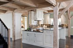 Firefly Farm Kitchen - traditional - kitchen - boston - Venegas and Company Whitewash Kitchen Cabinets, Kitchen Cabinets For Sale, Kitchen Cabinets Pictures, Painting Kitchen Cabinets, Oak Cabinets, Wooden Cabinets, Rustic Kitchen, Kitchen Decor, Kitchen Ideas