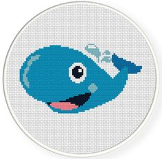 Charts Club Members Only: Blue Whale Cross Stitch Pattern