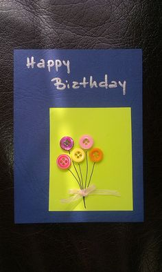 Birthday card Birthday Cards, Happy, Artist, Handmade, Bday Cards, Hand Made, Anniversary Cards, Artists, Ser Feliz