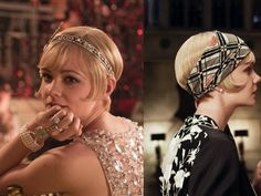 Carey Mulligan as Daisy Buchannan with a 1920s pixie bob hairstyle in the 2013 remake of The Great Gatsby. #shorthairstyles #vintage #flapper