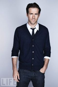 Ryan Reynolds - there's just something about men in cardigans...