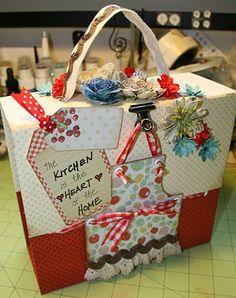 Recipe box mini album - I love all of Laura's creations, she's so talented!