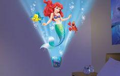 Uncle Milton - The Little Mermaid Wild Walls - Light and Sound Room Decor Mermaid Bathroom, Mermaid Room, Mermaid Under The Sea, The Little Mermaid, Little Mermaid Bedroom, Sound Room, Disney Bedrooms, Princess Room, Disney Princess
