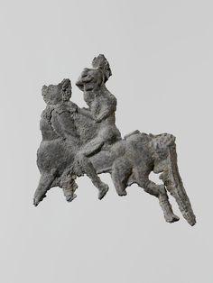Lead figure of a horseman | Greek, Laconian | Archaic | The Met