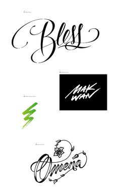 Miscellaneous scripts and lettering designs for clients and personal use.