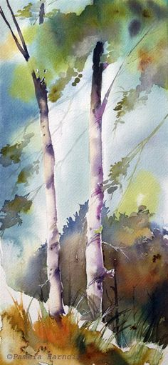 Oh how I envy those who've mastered the art of watercolor! (Pamela Harnois.    New Beginnings)