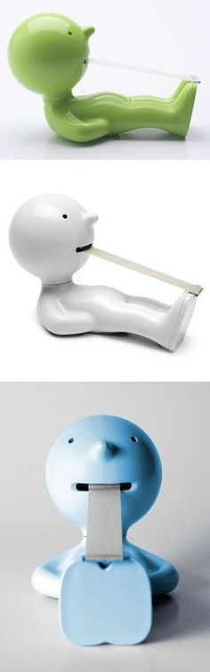 Tape dispenser // looks like he's doing Pilates haha! #product_design