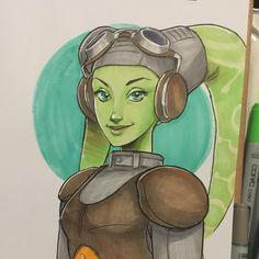 Hera - Star Wars Rebels by manee-sketch