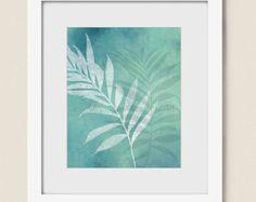Impresión de hoja de plátano Tropical verde hojas por shelbydillon