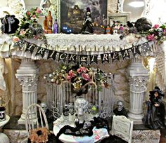 Penny's Vintage Home: Halloween Mantle