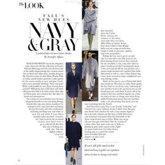 Harper's Bazaar Editorial Navy & Gray, August 2013 Shot #2 - MyFDB ❤ liked on Polyvore featuring text, words, articles, magazine, backgrounds, editorial, quotes, headline, saying and phrase