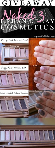 Urban Decay Naked 3 Giveaway on http://www.mynewestaddiction.com/2014/03/urban-decay-naked-3-giveaway.html