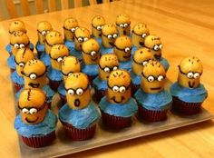 Despicable me cupcakes - if you have a kid that loves this movie, you have to make these. So awesome!!!!