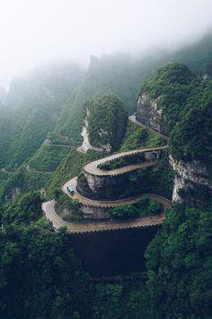 """banshy: """" Tianmen Mountain by: Rey Canlas, Jr. """""""