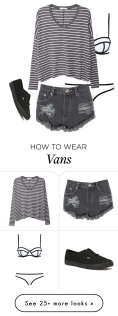 """I want to go swimming"" by alone77 on Polyvore featuring Milly, MANGO, Glamorous and Vans"