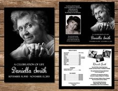 Funeral Memorial Programs Celebration of Life Digital First Birthday Invitations, Baptism Invitations, Baby Shower Invitations, Memorial Cards, Funeral Memorial, Memorial Ideas, Memorial Service Program, Personalised Photo Cards, Order Of Service