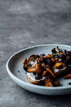 Roasted Mushrooms on Toast