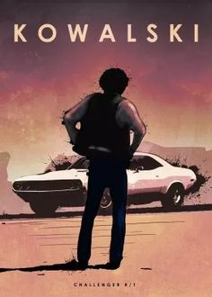 print on metal Movies & TV car cars legend dodge challenger rt 440 magnum vanishing point barry newman