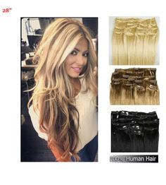 12 inch long 30cm skin weft 100 remy human hair tape hair 28inch 71cm clip in remy human hair extensions full head all colors pmusecretfo Images