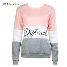 2016 Casual Lettres Imprimé Hoodies Sweat Femmes À Manches Longues À Capuche Tee Tops Rose Pull Jumper Sweat Femmes Top(China (Mainland))
