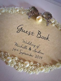 Beautiful Bespoke Guest Book by Made Marvellous