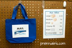"""This month, we have a Post Office in our dramatic play center. February is a good month for this because the children """"deliver mail"""" on Valentine's Day, so it ties in well. Dramatic Play Themes, Dramatic Play Area, Dramatic Play Centers, Preschool Centers, Preschool Activities, Preschool Class, Preschool Education, Play Based Learning, Project Based Learning"""