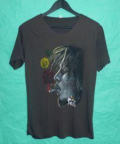 Bob Marley shirt V neck size M/L/XL smoking shirt plus size tshirt women tshirt men tshirt clothes apparel short sleeve tshirt by BlackTeenFashion