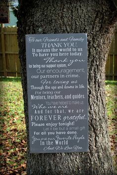 Thank You Wedding Sign  12 x 24 Made to by JolieMaeCollections, $39.95