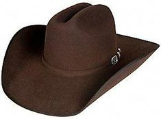 546bbaacca628 Resistol Panhandle Collection 3X Longhorn Chocolate Bound Edge Wool Cowboy  Hat. Mens Cowboy HatsMens Western ...