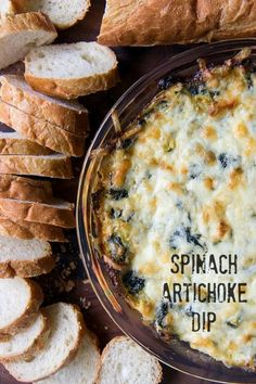 Spinach Artichoke Dip - Great for holiday appetizers or football games!