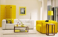 yellow lacquered coffee table