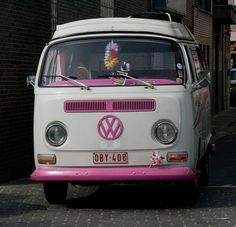 white/pink camper by Michael Mol, via Flickr