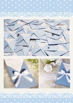 Partecipazioni matrimonio collezione elegant versione azzurro