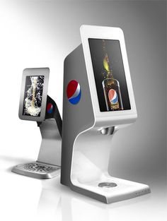 Pepsi Touch Tower, soda fountain with touch screen technology