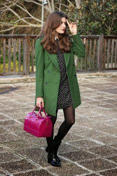 Abrigo Verde&Candy Bag