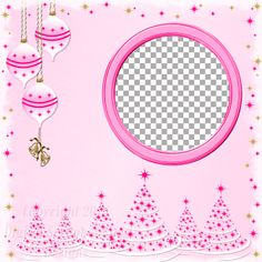 "Layout QP 13A-3 Pink.....Quick Page, Digital Scrapbooking, Christmas Time Collection, 12"" x 12"", 300 dpi, PNG File Format"