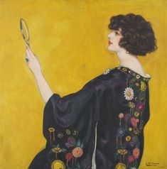 Woman with a Kimono in Profile, c.1913-25 by Eduardo Chicharro (Madrid, 1873-1949) | Museu Nacional d'Art de Catalunya