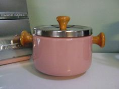 Vintage Pink Fondue Set Made in Japan by cherryrivers on Etsy, $20.00