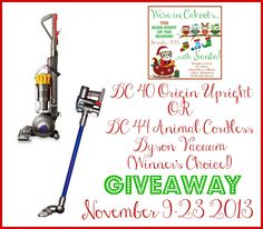 Dyson Vacuum Cleaner Giveaway!
