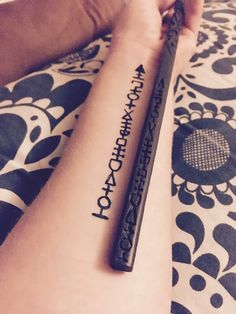 Sirius Black wand tattoo #selfmade
