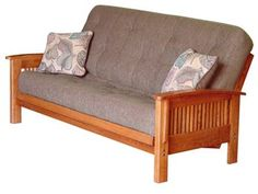 Cambridge Full Size Futon With Bavarian Pine TDC Mattress