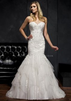 Sweetheart Lace & Tulle Fit N Flare Sleeveless Lace up Back Floor Length Wedding Dresses