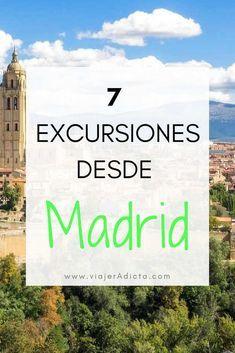 No te pierdas estas 7 excursiones cerca de Madrid. #excursiones #madrid #españa Travel Advice, Travel Tips, Best Hotels In Madrid, Places To Travel, Places To See, Madrid Travel, Secret Places, What To Pack, Spain Travel
